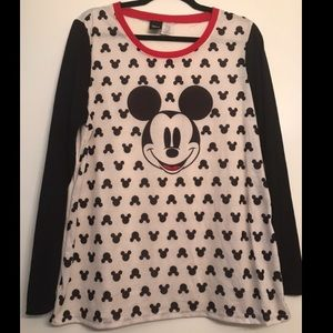 Disney Mickey Mouse Graphic Long Sleeve Tee XXL